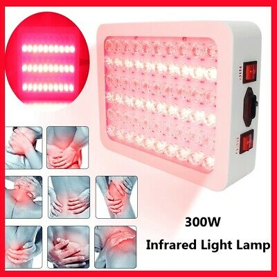 300W Red Light Infrared LED Therapy Pad Skin Rejuvenation Wrinkle Removal Device