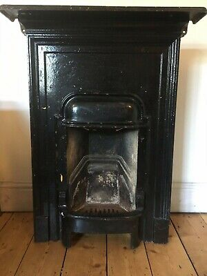 Original Edwardian / Victorian Cast Iron Bedroom Fireplace