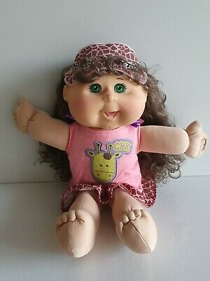 2011 Cabbage Patch Kid KIDS GLOW PARTY - Green Eyes, Brushable Hair, TOOTH