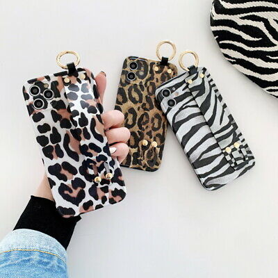 Fashion White Brown Leopard Pattern Soft Silicone Case Cover For Cell Phone