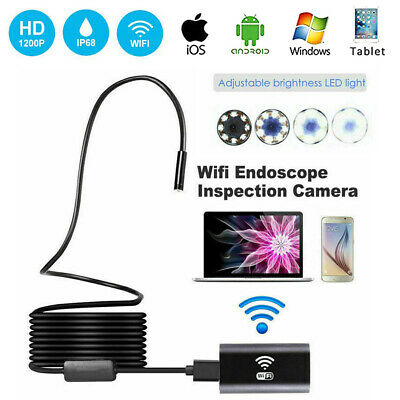 HD Waterproof WiFi Endoscope Inspection 6 LED Camera iPhone Android PC iPad