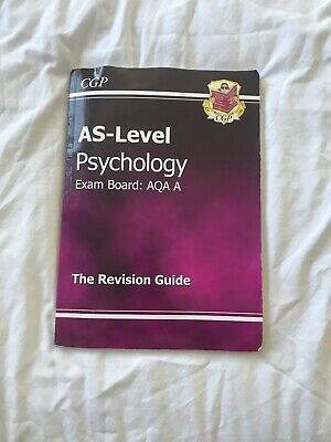 CGP AS Level Psychology Revision Guide For Exam Board AQA 2008