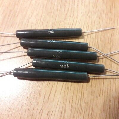 10k W24 WELWYN WIRE WOUND CERAMIC RESISTORS 14 watt x 5 pieces