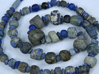 Ancient Lapis Lazuli Beads Strand Roman 200 BC No Reserve #BE2418