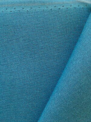 Duck Azure Blue 32 Count Zweigart Murano even weave fabric various size options