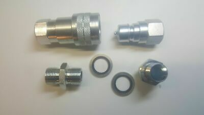 """ISO A Hydraulic Quick Release Coupling Set - 1"""" BSP"""