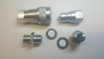 """ISO A Hydraulic Quick Release Coupling Set - 2"""" BSP"""