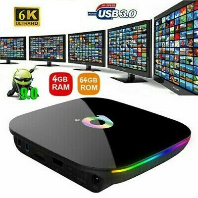 Tv Box Android 9.0 Q Plus 4Gb Ram +64 Gb Rom Smart Tv  You Tube Facebook Netflix