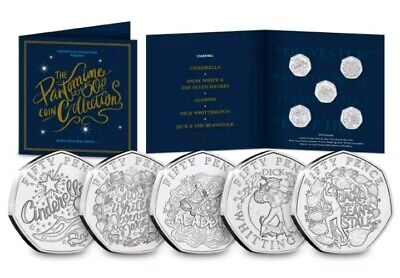 The Christmas Pantomime 50p Coin Set 2019 Snow White Cinderella Rare Only 4995