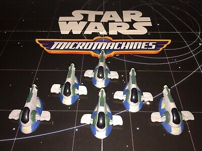 Micro Machines Star Wars Lot X6 Jango Fett's Slave 1 Firespray-31 Space Ship