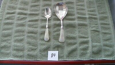 2 Spoons  Continental Mother Of Pearl  Sterling Silver    Berry / Sugar ???