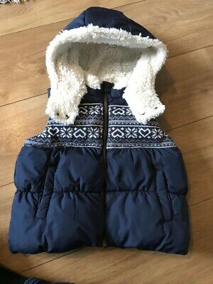 Girls Next Navy Gilet - Age 3-4