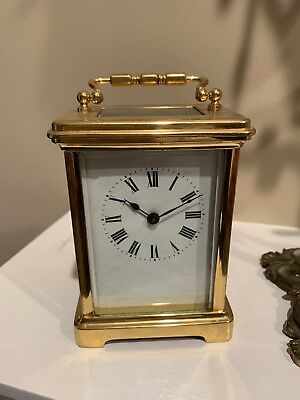 Exquisite 8 Day Antique French Carriage Clock Runs With Key
