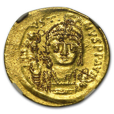 Byzantine Gold Solidus Emperor Justin II (565-578 AD) MS NGC - SKU #95841