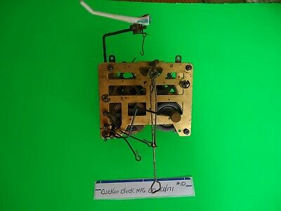 Vintage Cuckoo Clock MFG Movement with bird for parts or repair #10