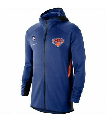 Nike NBA New York Knicks Therma Flex Showtime Hoodie Blue Active AT8482-495