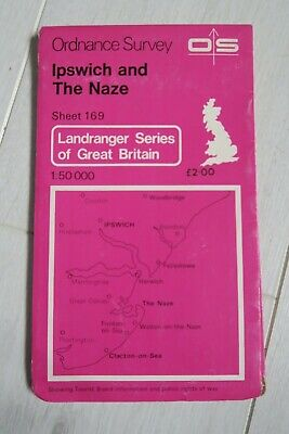 Ordnance Survey Landranger 169 Ipswich & The Naze Area 1980