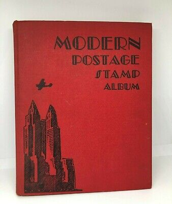 Modern Postage Stamp Album 1940 Usa & Worldwide Stamps Hardcover Foreign