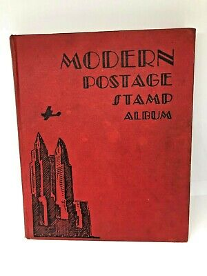 Modern Postage Stamp Album 1944 Usa & Worldwide Stamps Hardcover Foreign