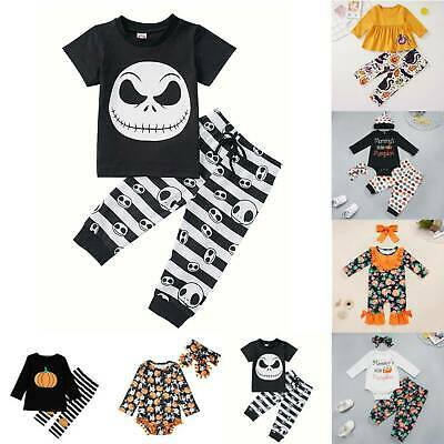 Toddler Kids Baby Christmas Costume Party Fancy Dress Pumpkin Casual Outfits Set