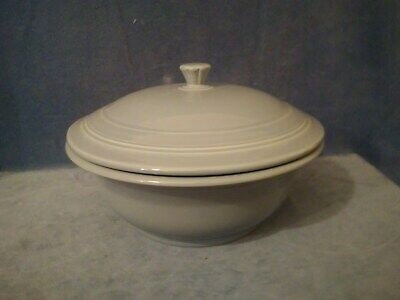 FIESTA Periwinkle Casserole Dish/Serving Bowl w/Lid by Homer Laughlin Made USA