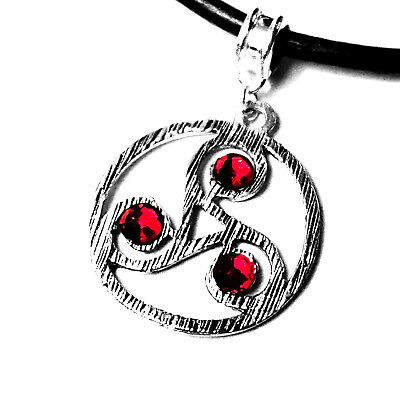 Submissive collar BDSM symbol triskele triskelion necklace dominant sub jewelry