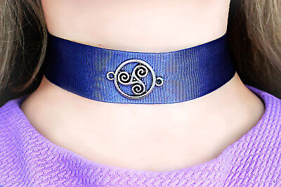 BDSM symbol triskele day collar necklace submissive choker dominant pendant gift