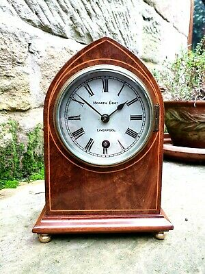 A Small Inlaid Mahogany Lancet Clock By The Morath Brothers, Liverpool C1910