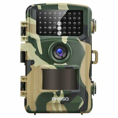 AKASO 14MP Trail Camera Night Vision 1080P IP66 Waterproof Game,120 Degree Wide