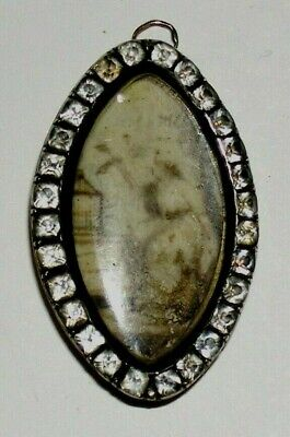 Brosche Victorian N Brooch Pendant  old Painting on Ivory Biedermeier