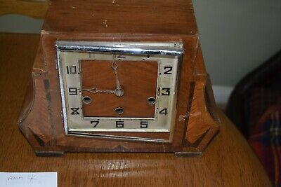 Vintage Art Deco Westminster Chiming Mantle Clock. Spares Or Repair