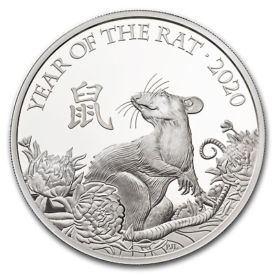 2020 Great Britain 1 oz Silver Year of the Rat Proof (Box & COA) - SKU#198303
