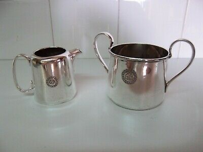 Silver Plate Cream Jug & Sugar Bowl