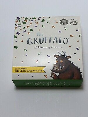 2019 UK Royal Mint The Gruffalo 50p Silver Proof Coin Limited Edition With COA