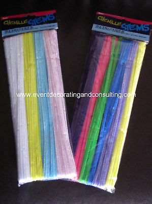 "100 PCS CHENILE STEMS ""Pipe Cleaners"" Spring Assorted"