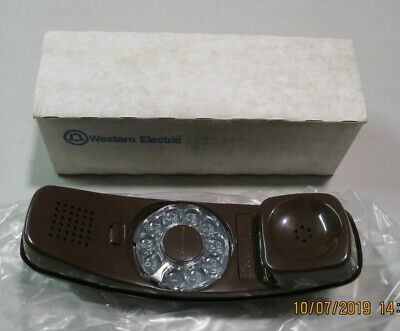 Western Electric NOS Telephone BROWN Rotary Dial Handset TRIMLINE W/Box