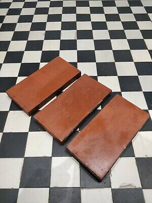 Genuine Reclaimed Victorian Quarry Tiles (9 3/4″ x 4 3/4″ x 1″) *1400 available*