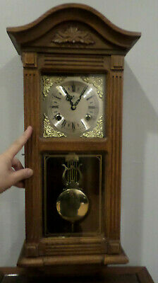 DEA CHIMING WALL CLOCK with Key AND Pendulum, Working