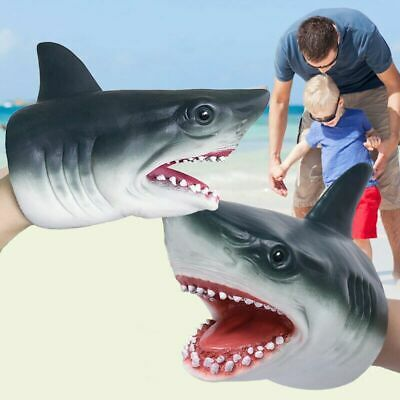 BEST Shark Hand Puppet Soft Kids Toy Gift Great For jaws Cake Decoration Topper
