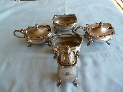Lot Of Antique Mappin And Webb Stirling Silver. 202 G