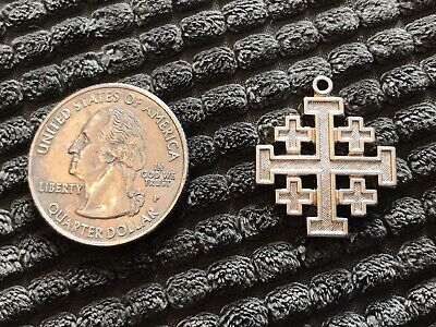 VINTAGE RARE - GOLD FILLED JERUSALEM CROSS Religious PENDANT 1/2010K GF -