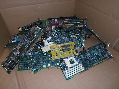 17 LBS,  4 Ounces Vintage 16 BIT  ISA  Bus Circuit Boards For Gold Scrap