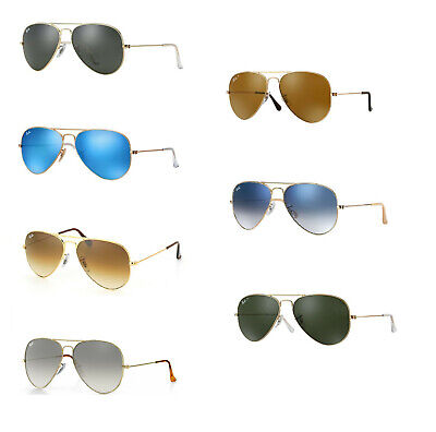 Ray Ban Aviator Sunglasses: Your choice of color and size