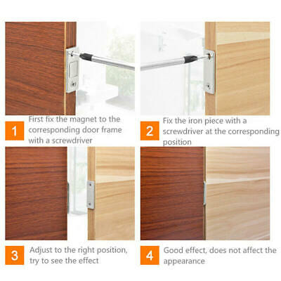 Strong Magnetic Door Closer Cabinet Catch Latch Cupboard Ultra Thin Closer Lock