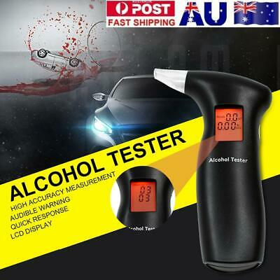 Digital Breath Alcohol Tester LCD Breathalyzer Analyzer Detector Portable AU