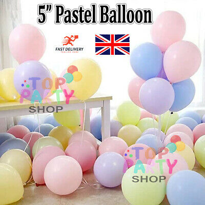 100Pcs 5 inch Macaron Candy Colored Pastel Latex Balloon Wedding Party Decor UK