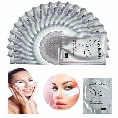 50 Pairs Set  Eye Pads for Eyelash Extensions Gel Makeup Patches Collagen Tools