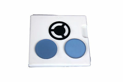 Set of Blue & Frosted Filter w Darkfield Stop for Biology Compound Microscope