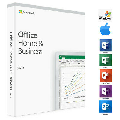 Microsoft Office Home And Business 2019, 1 Device, Windows 10 PC/MAC