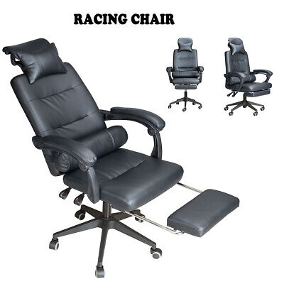 Luxury Racing Gaming Office Chair Race Computer Desk Chair w/ Reclining Function